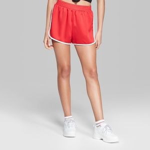 Silky red gym shorts (Wild Fable)